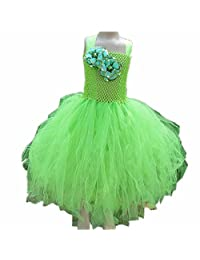Byjia Flower Girls Infant Baby Lace Tulle Chiffon Wedding Christening Gown Dresses Birthday Party Princess Kids Clothes Children Skirt Dancing Outfit