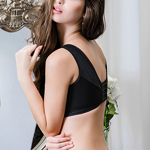 JLF Cleavage Booster Lace & Mesh Wireless Bralette Black
