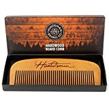 Hair and Beard Comb - Perfect for Beard Balms and Oils - Anti-Static, No Snag Wooden Brush - Presented in Cardboard Gift Box