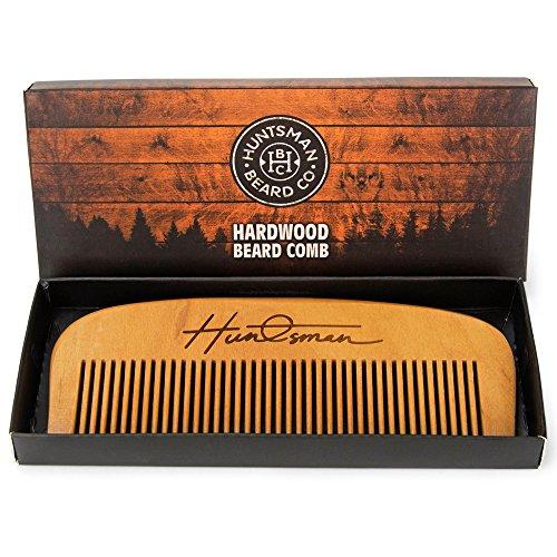 Kamm aus Holz für Bart und Kopf - perfekt für Bart-Balsame & Öle - antistatisch & kein Verhaken - in Geschenkschachtel verpackt