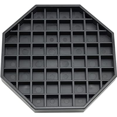 "Coffee Countertop Octagon Drip Tray - 6"" - Black by KegWorks"