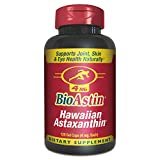 BioAstin Hawaiian Astaxanthin – 120 ct – 4mg – Supports Joint, Skin, & Eye Health Naturally – A Super-Antioxidant Grown in Hawaii
