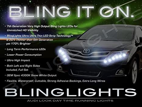 Amazon 2013 2014 toyota venza led drl light strips headlamps 2013 2014 toyota venza led drl light strips headlamps headlights day time running lamps lights aloadofball Gallery