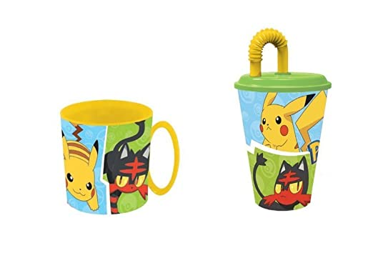 pokemon,Taza apta para microondas y vaso.: Amazon.es: Hogar