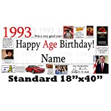 1993 25th Birthday Personalized Banner by Partypro