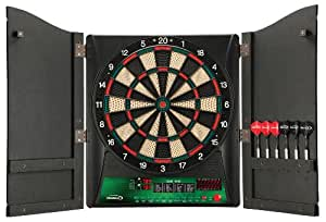 Regent-Halex Millennia 1.0 Electronic Dartboard in Wood Cabinet, Brown, Medium