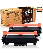 [avec Puce] STAROVER TN2420 TN-2420 TN2410 Cartouche Toner Compatible pour Brother MFC-L2710DW DCP-L2530DW HL-L2350DW MFC-L2710DN MFC-L2730DW MFC-L2750DW DCP-L2510D DCP-L2550DN HL-L2375DW HL-L2370DN