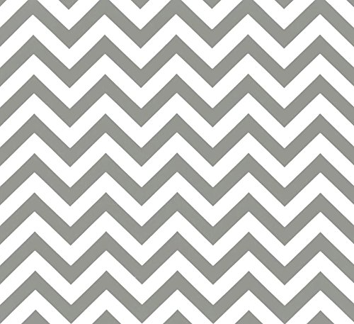 Indoor / Outdoor Fabric by the Yard - Premier Prints Gray / Grey and White Chevron (Chevron By Yard The Fabric Upholstery)