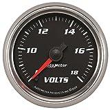 AutoMeter 19692 Pro-Cycle Digital Voltmeter Gauge 2-1/16 in. Black Dial Face Fluorescent Red Pointer Blue LED Lighting Digital Stepper Motor 8-18V Pro-Cycle Digital Voltmeter Gauge