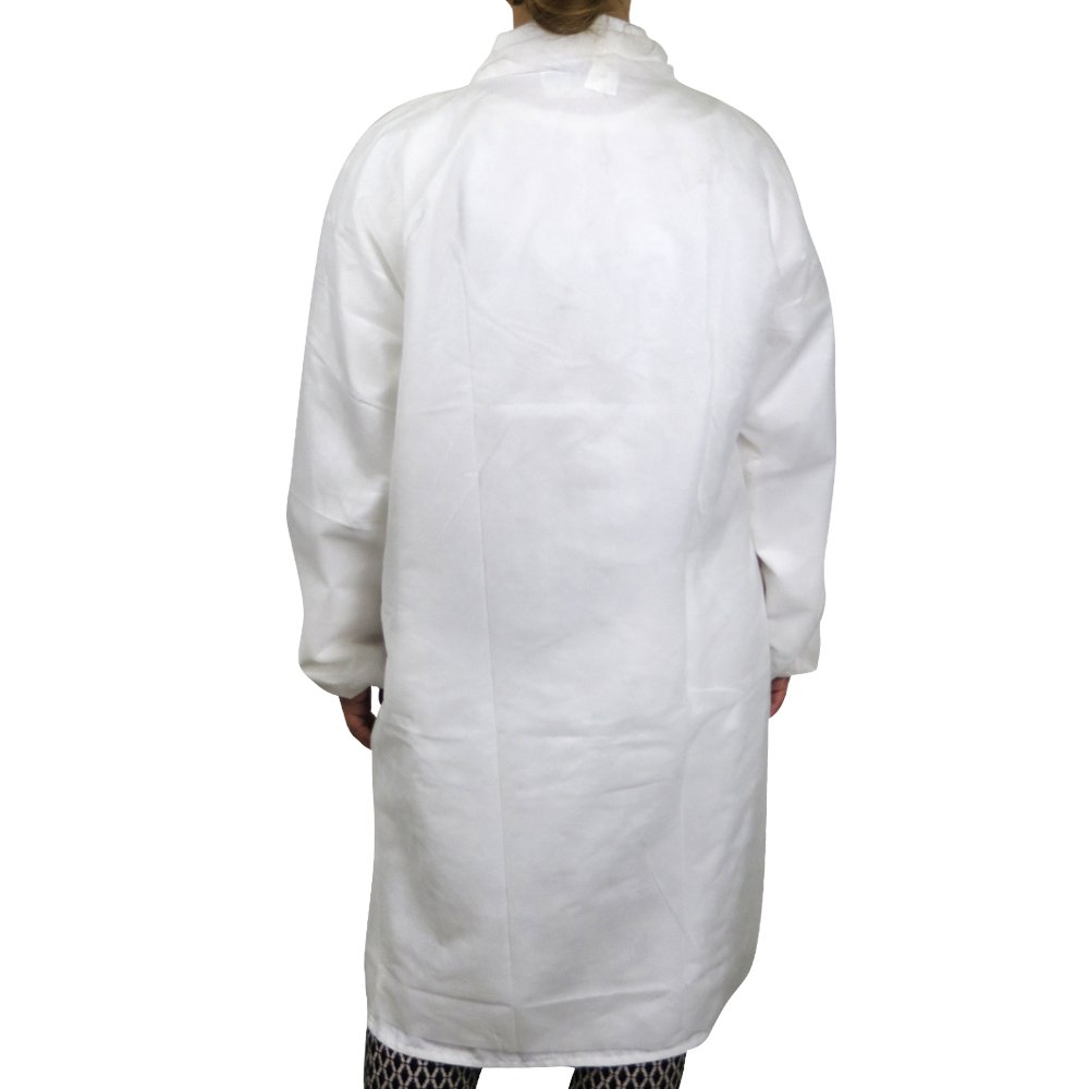 UltraSource Disposable Poly Lab Coats, Medium (Pack of 30) by UltraSource (Image #2)