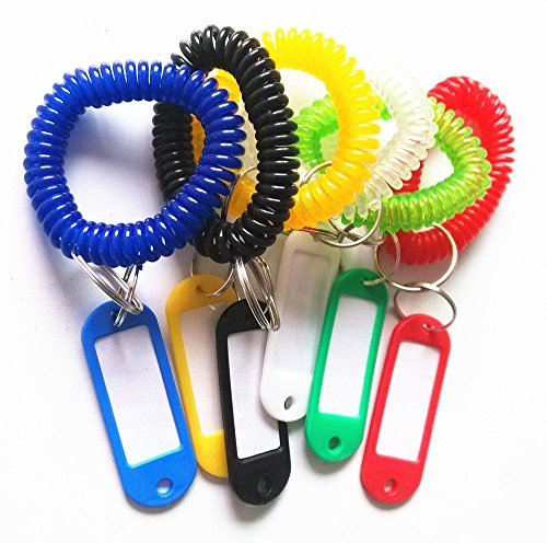 adecco-llc-pack-of-6-colorful-spring-spiral-wrist-coil-key-chain-label-wrist-band-key-ring-key-tag