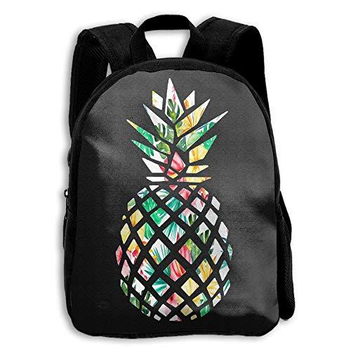 (Pina Colada Pineapple Print Casual Children Backpack School Bag Daypack - Gift)