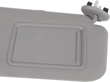 cciyu Gray Windshield Sun Visor Mirror Left Driver Side Replacement fit for Hyundai Elantra 2011-2015 Automobile Sun Visor Assembly