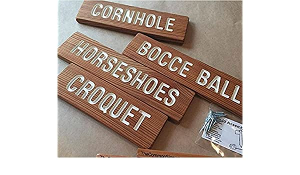 Wedding Game Signs Family Reunion Bocce Ball Frisbee YARD GAME Signs Party Signs Lawn Games BBQ Horseshoes Cornhole Croquet