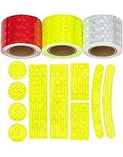 Weidebach® Reflector tape zelfklevend 3 rollen à 4,5 cm x 3 m incl. 10-delige stickerset, veiligheid in het donker met reflector tape, reflector tape voor mens en voertuigen