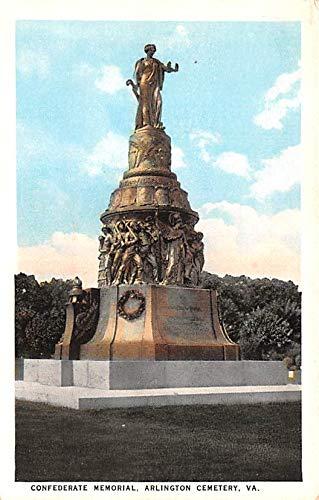 (Civil War Post Card Old Vintage Antique Postcard Confederate Memorial, Arlington Cemetery, VA USA Unused)