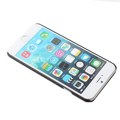 Apple iPhone 6Coque Noir decui Noir Plastique rigide pour Caution Sparta Fight