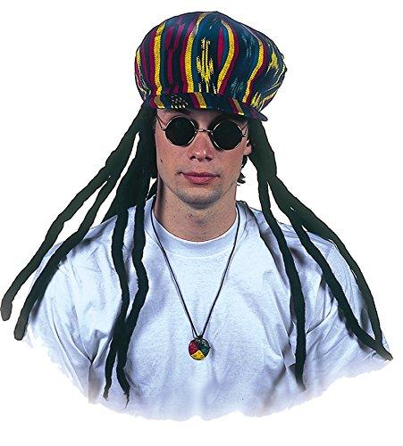 UHC Dreadlocks Jamacian Rasta Applejack Hat Adult Halloween Costume (Apple Halloween Bucket)