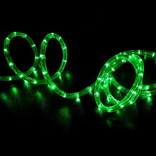 WYZworks 150' feet Green LED Rope Lights - Flexible 2 Wire Accent Holiday Christmas Party Decoration Lighting