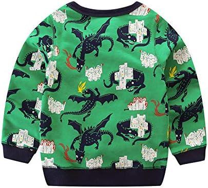 KIDSALON Little Boys Cotton Crewneck Long Sleeve Cartoon T-Shirt
