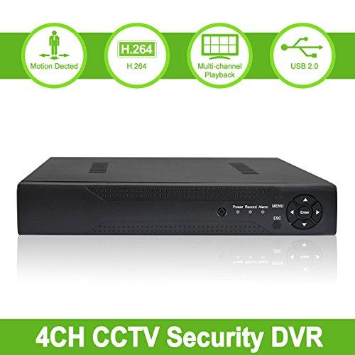 ABOWONE 4 Channels 960H Full D1 CCTV DVR H.264 Digital Video Recorder