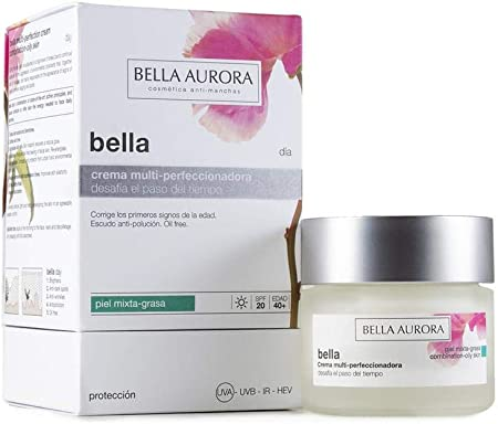 Bella Aurora Crema Facial Día Hidratante Para Mujer (Piel Mixta O Grasa, SPF 20) - 50 ml.