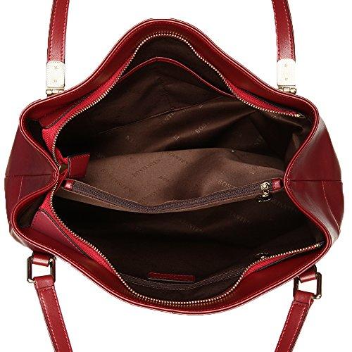 tote Femme Sac BOSTANTEN Cuir porté à Véritable Vin Main main Rouge Cabas Sac Rose Sac Sac HxxC7wTq