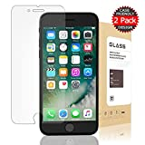 [2-Pack] iPhone 7 Plus Screen Protector, Suprecool Screen Protector [9H Hardness] [Crystal Clear] [Bubble Free] [3D Touch Compatible] Tempered Glass Screen Protector for Apple iPhone 7 Plus 5.5 inch