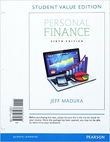 Personal Finance, Student Value Edition Plus Mylab Finance with Pearson Etext -- Access Card Package