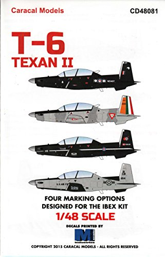 Used, CARCD48081 1:48 Caracal Models Decals - T-6 Texan II for sale  Delivered anywhere in USA