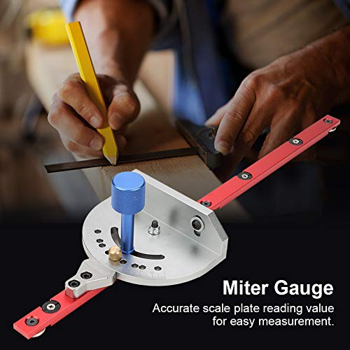 Router Miter Ruler Hard Alloy Table Saw Miter Gauge Band Saw Universal 5.5in Scale Plate Width for Woodworker Sawing Woodworking Tool