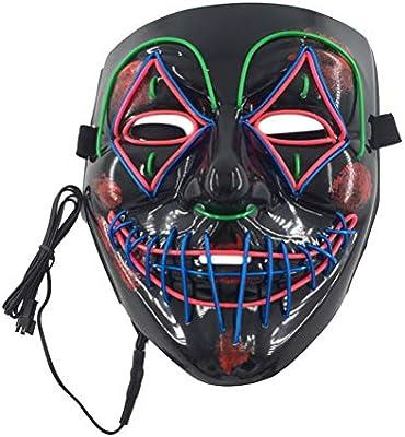 Bweele Máscara de Resplandor LED, máscara de Alambre Máscara ...