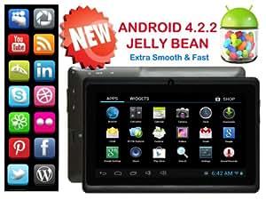 "New TravelTek 7"" Inch Tablet Android Google 4.2.2 Jelly Bean 4GB DDRIII External 3G Port MicroSD Flash USB Port 1GHz"