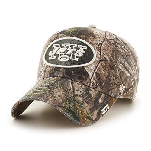 '47 NFL New York Jets Realtree Ice Clean Up Adjustable Hat, One Size, Realtree Camo - New York Jets Hats