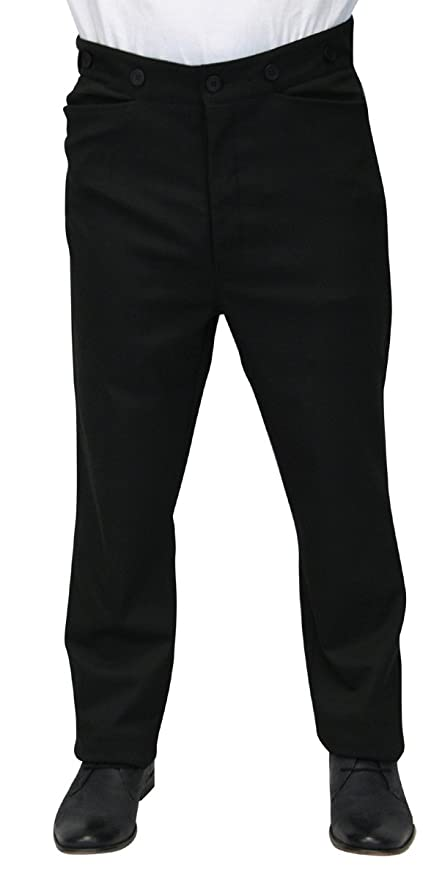 1910s Men's Edwardian Fashion and Clothing Guide  High Waist Callahan Dress Trousers $69.95 AT vintagedancer.com