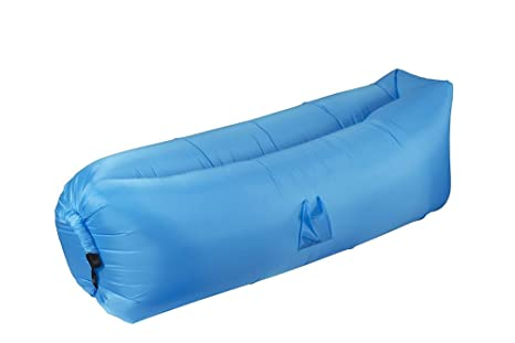 Juvale Inflatable Outdoor Lounger Hammock   Polyester Sun Tanning Lounge  Chair Sofa Couch For Pool,