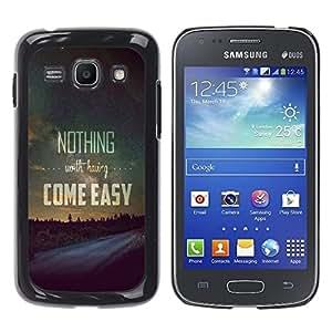 Dragon Case - FOR Samsung Galaxy Ace 3 - come easy - Caja protectora de pl??stico duro de la cubierta Dise?¡Ào Slim Fit