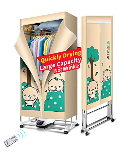 Kasydoff Portable Clothes Dryer 3-Tier Foldable Clothes Drying Rack Energy Saving (Anion) 1.7 meters Clothing Dryers Digital Automatic Timer with Remote Control for apartment Thanksgiving Day