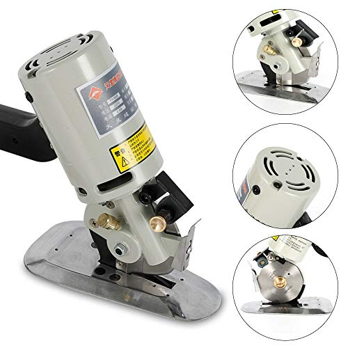 DONNGYZ Electric Cloth Textile Cutter Fabric Leather 90MM Rotary Blade Cutting Scissors Machine Semi-Automatic Cutter Tool 200W(US Stock)