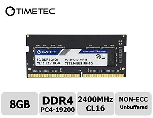 (Timetec Hynix IC 8GB DDR4 2400MHz PC4-19200 Unbuffered Non-ECC 1.2V CL16 1Rx8 Single Rank 260 Pin SODIMM Laptop Notebook Computer Memory RAM Module Upgrade (8GB))