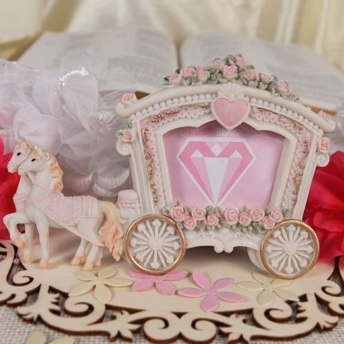 """Wedding Carriage"" Photo Frame/Place Card Holder - Set of 12"
