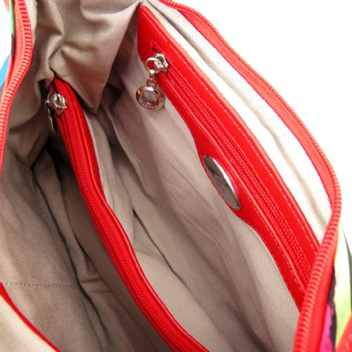 Umhängetasche 'Fuchsia' mehrfarbig rot.
