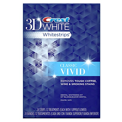 Crest 3D White Whitestrips Classic Vivid Teeth Whitening Kit, 12 Treatments - 24 Strips by Crest (Image #6)