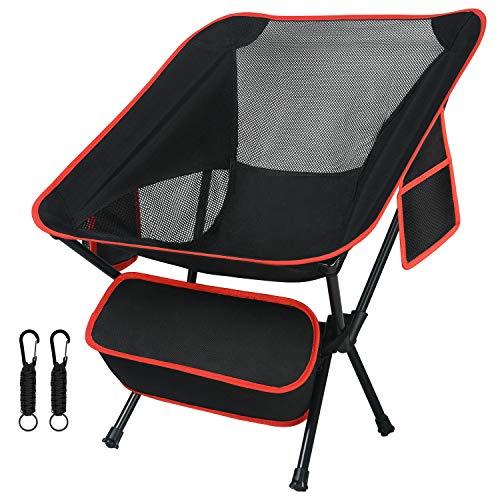 Flintronic Ultralichte draagbare campingstoel, compacte opvouwbare rugzakstoel, kleine opvouwbare opvouwbare opvouwbare…