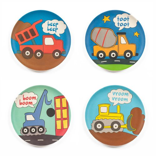 Bamboozle Tiny Footprints Construction Plates Set of 4