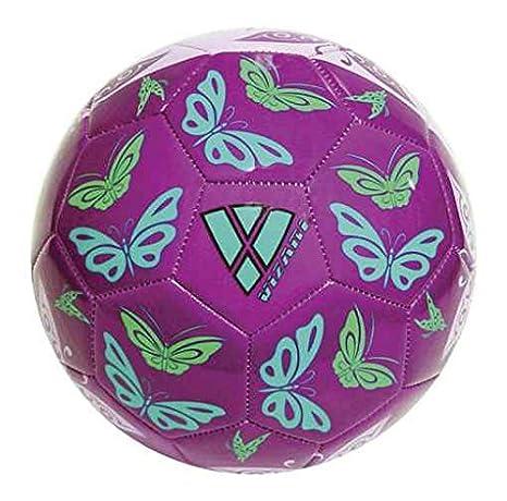 Vizari Mariposas balón de fútbol - 91549-4, Púrpura/Anaranjado ...