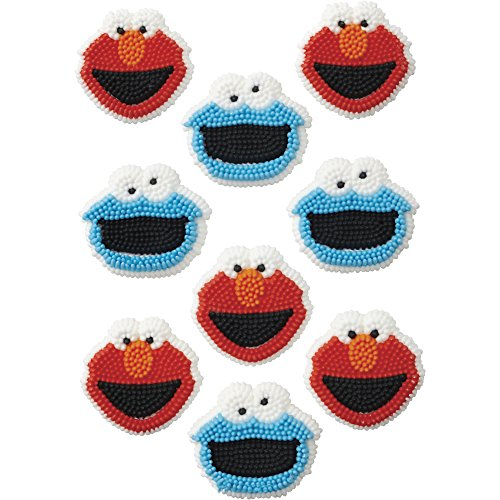 Wilton 710-3474 Sesame Street Edible Cupcake Toppers, Multicolor