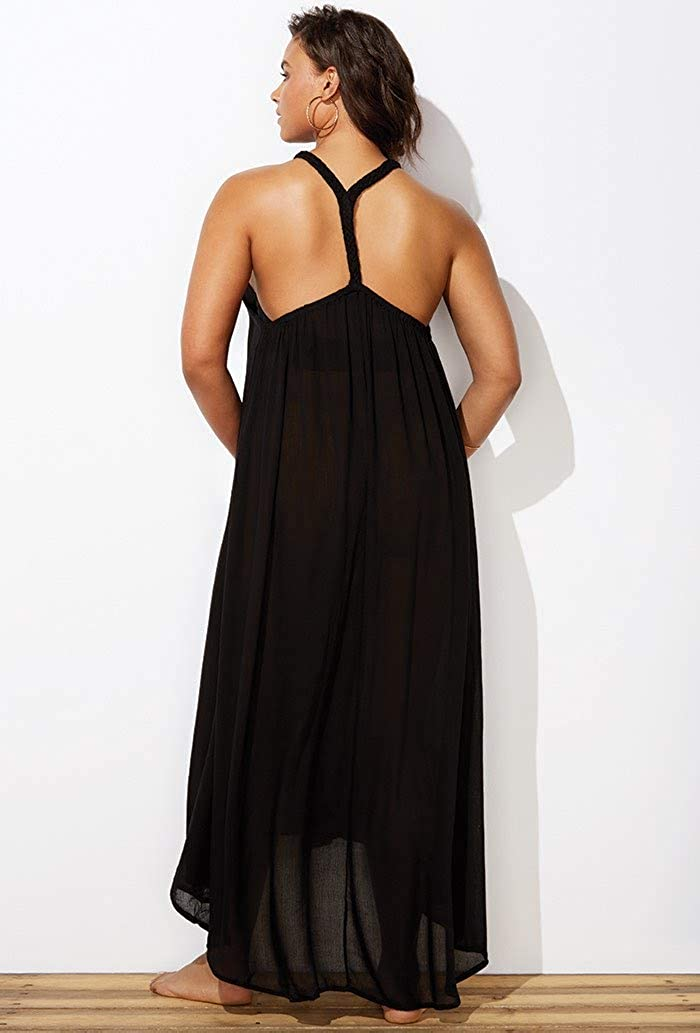 SWIMSUITSFORALL Swimsuits for All Womens Plus Size Candance Braided Cover Up Maxi Dress