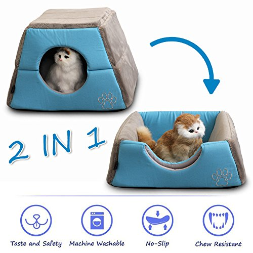 PET GROW 2 in 1 Cat Bed Cave House for Hamster Squirrel Smal