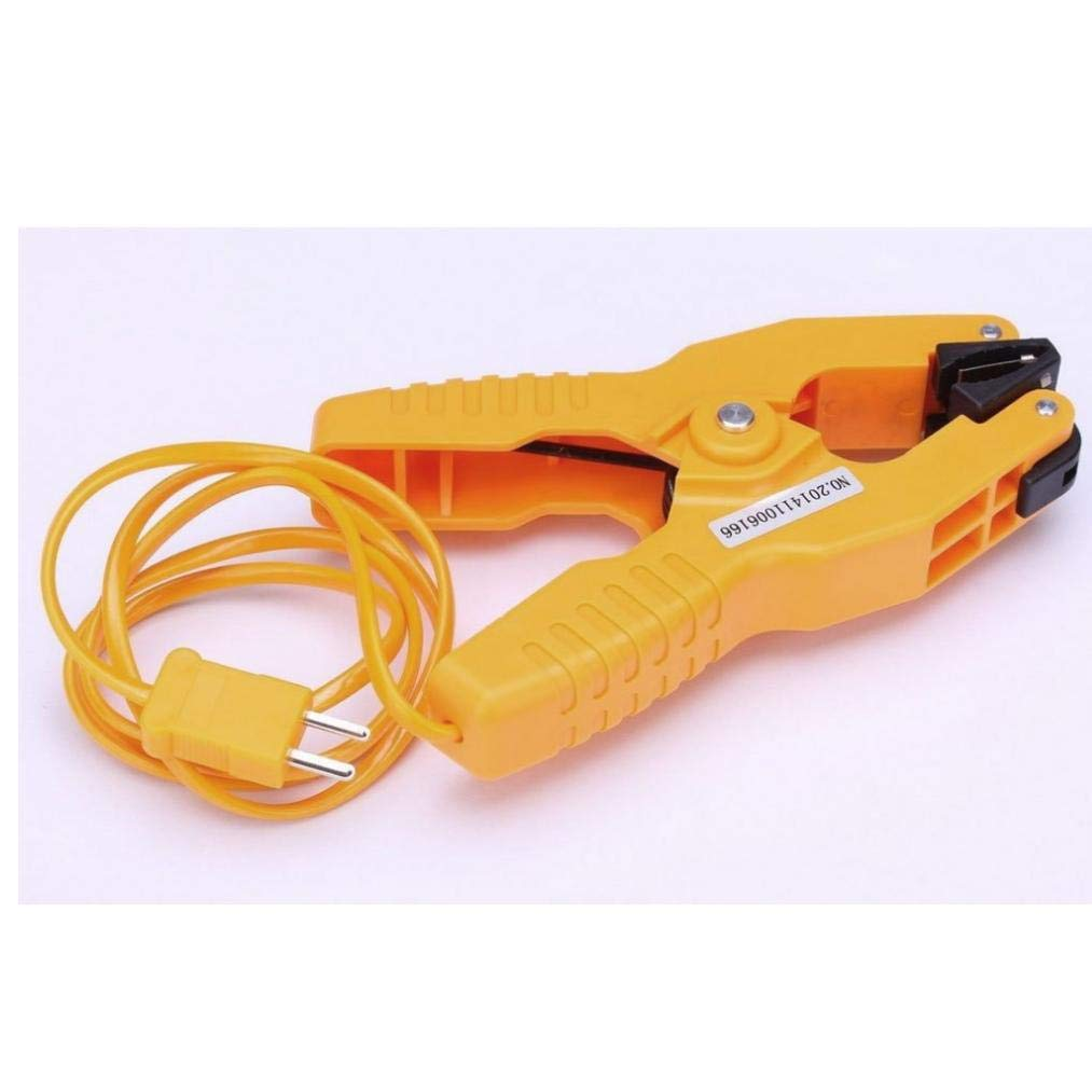 AMOYER Type K Pipe Clamp Temperature Lead Probe HVAC Pipes Jaw Clip Plumbing Clamp